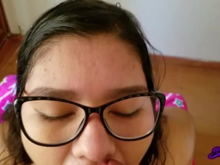 POV Hot chubby anal, cum on her face.
