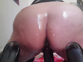 My Husband's Little Dick Wasn't Cutting It So I Had To Fuck Myself With A Monster Black Dildo