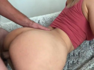 Amateur couple have passionate real sex with hard fuck and suck. POV. MyShinyGirl