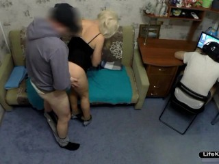 MY HUSBAND CUCKOLD.I WAS FUCKED BY HIS FRIEND WHILE HE WAS PLAYING COMPUTER GAMES