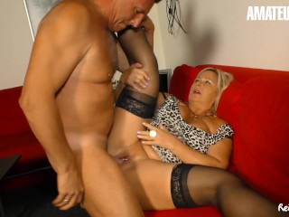 Reife Swinger - Mature German BBW Hard SEX with Neighbor - AmaterEuro