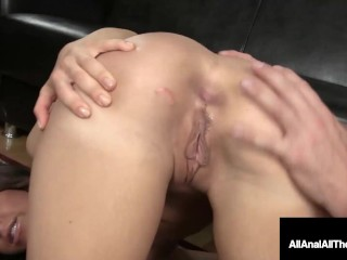 Long Haired Brunette Mia Gold Gets Anal Packing To Remember!