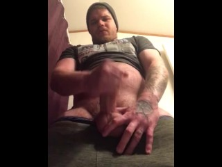 Stroking my Thick Hard Cock till I EXPLODE