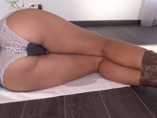 Tied College Girl Can't Hold It Anymore So She Pees In Her Sexy Panties