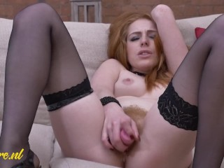 Very Special Redhead Mom Playing With Her Super Hairy Ginger Pussy
