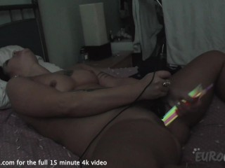 fetish glowstick pussy object insertion and peeing