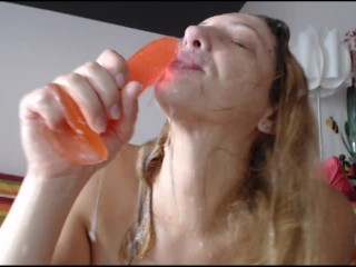 Sloppiest messiest blowjob ever, from the dirtiest slut ever (incredible amateur to die for)