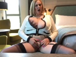 Annabel's husband plays with big tits