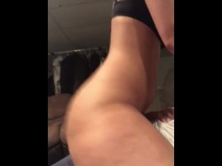 Step daughter cream pie quickie I made him cum inside me he didn't want to
