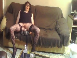 SISSY crossdresser with toys and ass fucking
