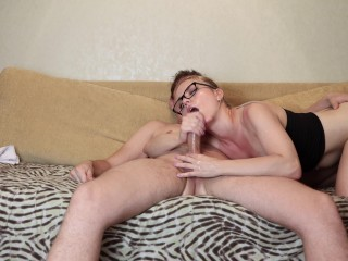 She loves to suck his dick and get cum in mouth.
