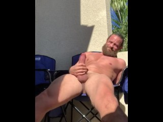 Outdoor in the sun public stroking preview