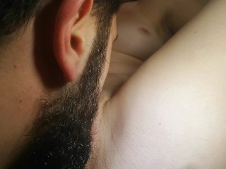 I lick a french girl's wet pussy juice while she is moaning loudly
