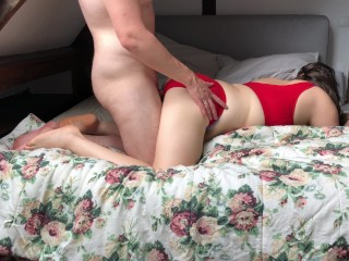 hot married couple has passionate sex in the morning