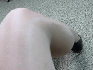 Oil Shine Pantyhose Mature MILF Sexy Legs and Feet Tease SweetsTreats Leg Show Foot Fetish Series