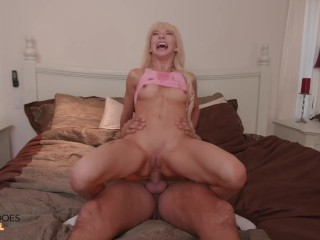 SheDoesAnal - Petite Kenzie Can't Stop Cumming From Rough Anal Sex