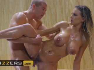 Brazzers - Big Butt Kenzie Taylor loves anal in the sauna