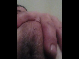 Transgirl Squeezing and Pulling Breasts and Playing with My Asshole