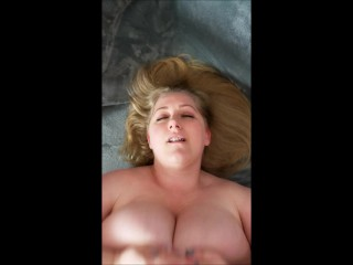 Fixing Huge Tit BBW Reyna Mae's cable
