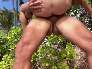 Hot beach cum on my body. I had to walk to hotel with cum all over me.