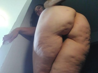 Accidental Pee Farting Giant Thick Cellulite Big Booty Ass Thighs PAWG White Girl Flatulence