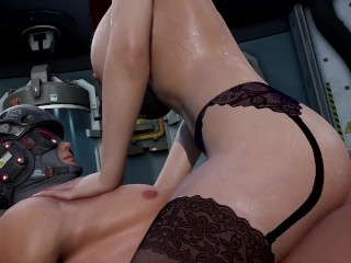 3D Hentai: MILF WITH JUICY FORMS RIDES ON A COCK (Fallen Doll: Operation Lovecraft)
