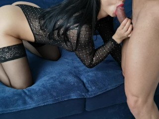 Sexy Lingerie Fucked Hard until I Shoot her with lot Cum - 4K