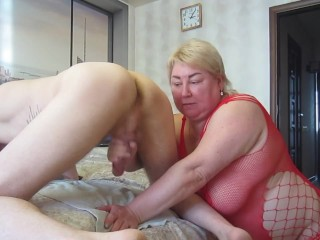 he got up doggy style and made me jerk off his cock