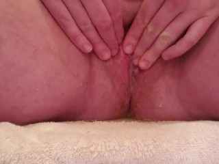 Long Pee on Floor After Holding with Squirts