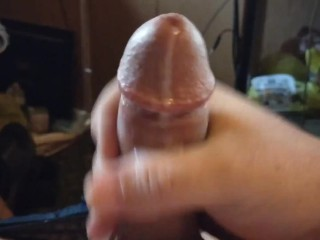 Blond Smooth Jerking his cut dick - Jizz Keeps coming out Justin #Wurdup