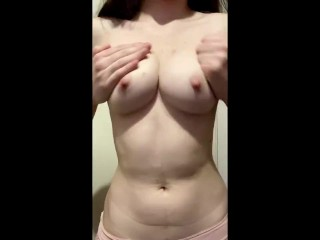 CUTE SMALL PETITE SHY HOT BARELY 18 YEAR OLD AMATEUR STUDENT TEEN LACE PURPLE BRA NATURAL TITTIES