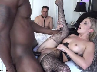Cuckold Serves Cuckolddress Kali and Cleans Up After Bull Finishes