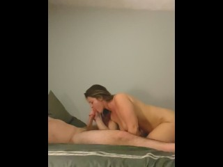 LEG QUIVER SQUIRTING ALL OVER DADDY'S 8 INCH COCK!!!