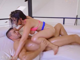 EvilAngel - Curvaceous Latina LaSirena69's Oiled Up Anal Fuck