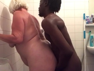Step mom asked me to fuck her in the shower (FRENCH BLONDE )