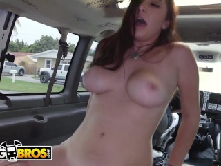 BANGBROS - Young, Busty Brunette Karlee Grey Taking Dick From Jmac