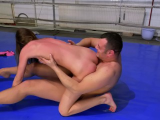 Male Vs Female Sexfight - Loser cums first and get humiliated!