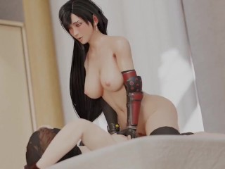 Tifa Cowgirl Animation from Final Fantasy Remake