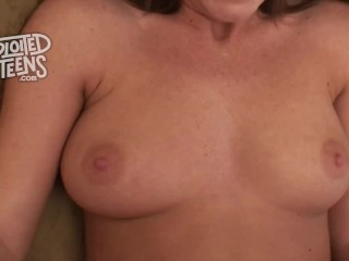 Super cute 19 yr old newbie stars in this POV video
