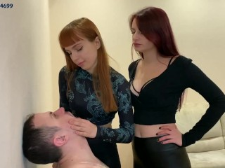Spittoon For Two Mistress - Double Spitting Humiliation Femdom [PREVIEW]