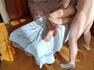 cheating wife called a masseur at home and fucked him while her husband was at work
