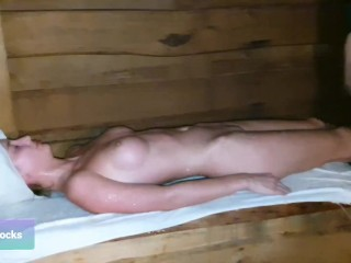 Real Russian bath with brooms and a professional bathhouse attendant