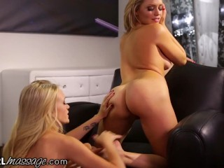 AllGirlMassage Alex Grey's Hardcore Pussy Destroying Massage Makes A Lot Of Squirting
