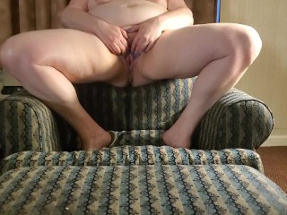 Pissing on the chair and footstool