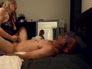 Best Femdom pegging session ever with huge cumshot & cumkiss - MIN MOO