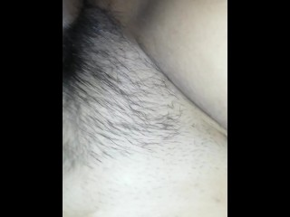 How rich this young woman with a hairy and big asshole squeezes
