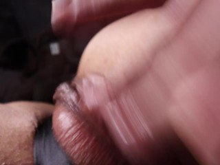 Real Orgasm Contractions @ 1:40 watching lesbian porn