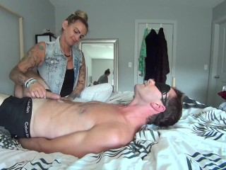 Gwen Hogties her Horny Assistant & Milk's his Hungry Cock! 1080p HD PREVIEW