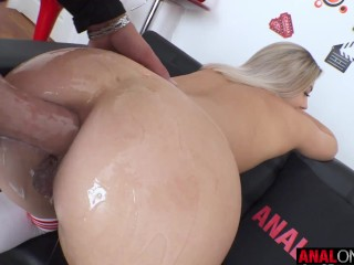ANAL ONLY Hot blonde Lana Anal lives up to her name