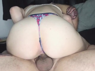 Big ass white girl gets fucked by roommate